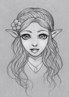 Zelda sketch by Dzydar
