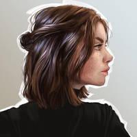 Girl portrait by Dzydar