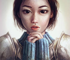 Saint by Dzydar