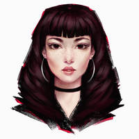 black rose by Dzydar