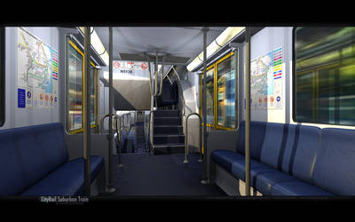 Cityrail Suburban Train by datazoid
