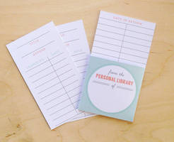 Free Printable Library Cards by ClementineCreative