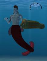 Merman for Sarahbeth by SimonJM