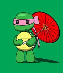 Pink Ninja Turtle by JoyJoyfulTheRabbit