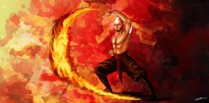 Aang - Firebending by Dracarian