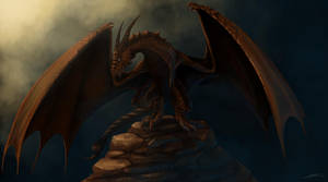 Brown Wyvern - Commission by Dracarian
