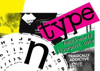 type exhibition poster by hilaroo
