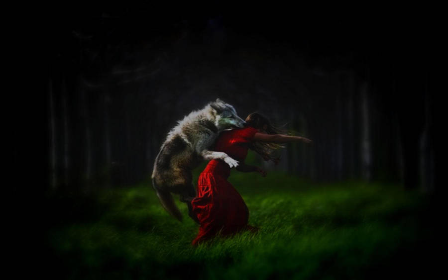 Little Red Riding Hood Wallpaper By Gypsywolf666