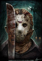 Jason Voorhees by Christopher Lovell by Lovell-Art