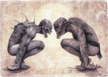 'The Staring Contest' Christopher Lovell Art by Lovell-Art