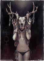 The Horned Goddess by Lovell-Art