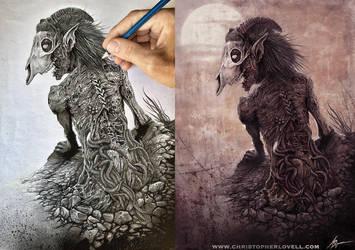 Plague Bearer process by Lovell-Art