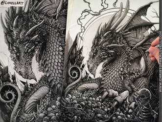 Dragon WIP - New Video by Lovell-Art