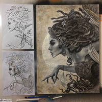 NEW VIDEO! MEDUSA PROCESS/TUTORIAL by Lovell-Art