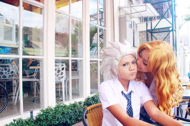 Toushiro and Rangiku - Kiss by recchinon
