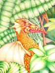 Leafy dragon by JettieHier
