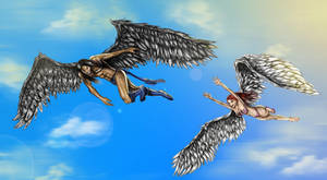 Silverbird and Windrider - II by Greybird007