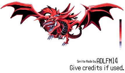 Slifer The Sky Dragon Sprite by ADLFM14
