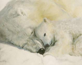 Polar Bear - Mother's Love by evomind