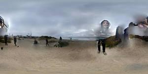 trippin @ the beach by calvincanibus