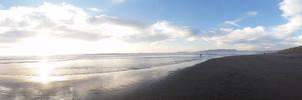 ocean beach sunset by calvincanibus