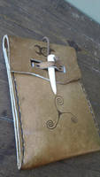 Witchy Leather Belt Pouch by Troll-Blood