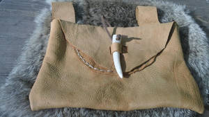 Viking Deerskin Belt Pouch by Troll-Blood