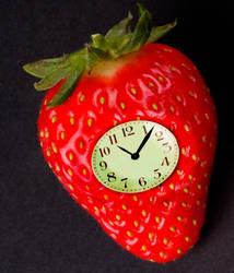 Strawberry Clock Fan Art by hamishwood
