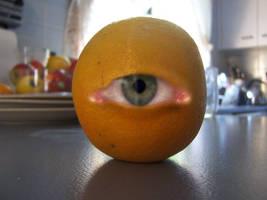 oscar the eyeballed orange by hamishwood