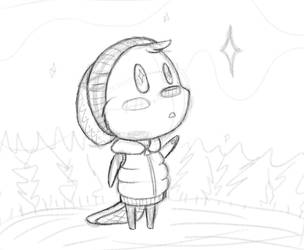 North Star Sketch by VaderKitty