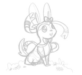 Sylveon Sketch by VaderKitty