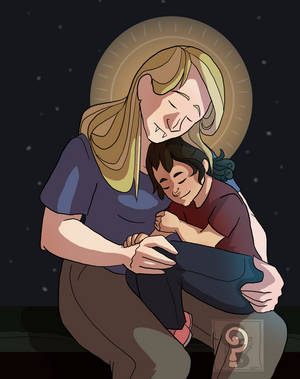 Madonna and Child by curiousdoodler
