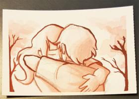 Hugs by curiousdoodler