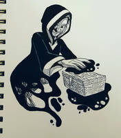 Inktober 2017 - Mysterious by curiousdoodler