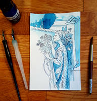 Study - The Soul of the Rose by John W Waterhouse by curiousdoodler