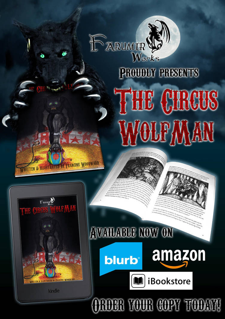 The Circus Wolfman - available now for purchase! by Farumir