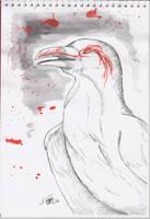 Inktober #3 - Hugin by Nychata