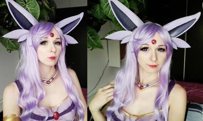 Espeon cosplay selfies by YashiroTeishi
