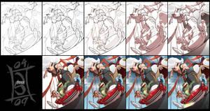 Monster Mash Progress by SeriojaInc