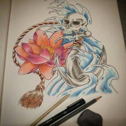 Flower and Water by Blastalex