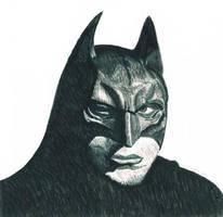 Batman head by CutePigTail