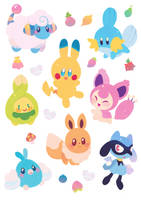 Pokemon Stickers by ieafy