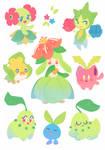 Grass Pokemon Stickers by ieafy