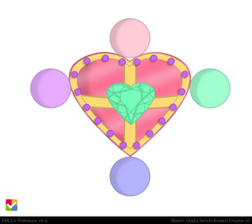 Otaku Sailor Senshi Brooch: ~Pastel Candy Prism~ by LaKiraRee