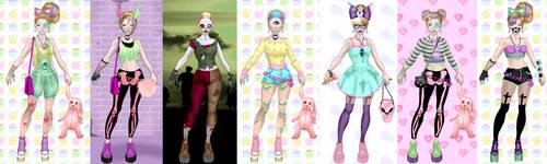 Pastel Zombie Dress up 2.... by LaKiraRee