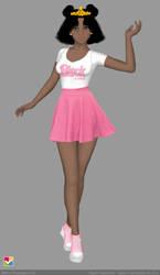 Sailor Senshi: Original ~Black Majokko Girl~ 2 by LaKiraRee