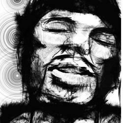The sleeping wolf man by Birthmatic