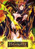 Magic Knight: Ixiria the Wyrmborn Lv4 by PursuerOfDarkness