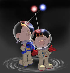 Olimar and Louie Colour by MudSaw