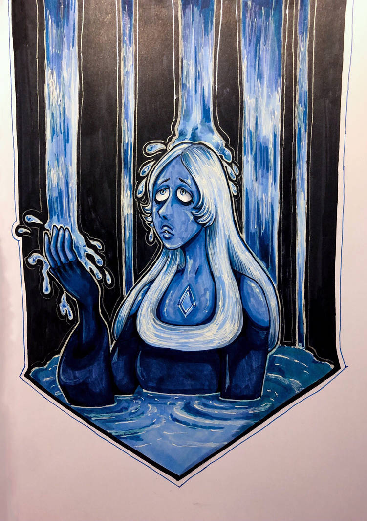 A Steven Universe fan-art inspired by latest episode. I really loved the scene with Blue's extraction room, so I just couldn't hold myself from drawing my favorite Diamond!  Made i...